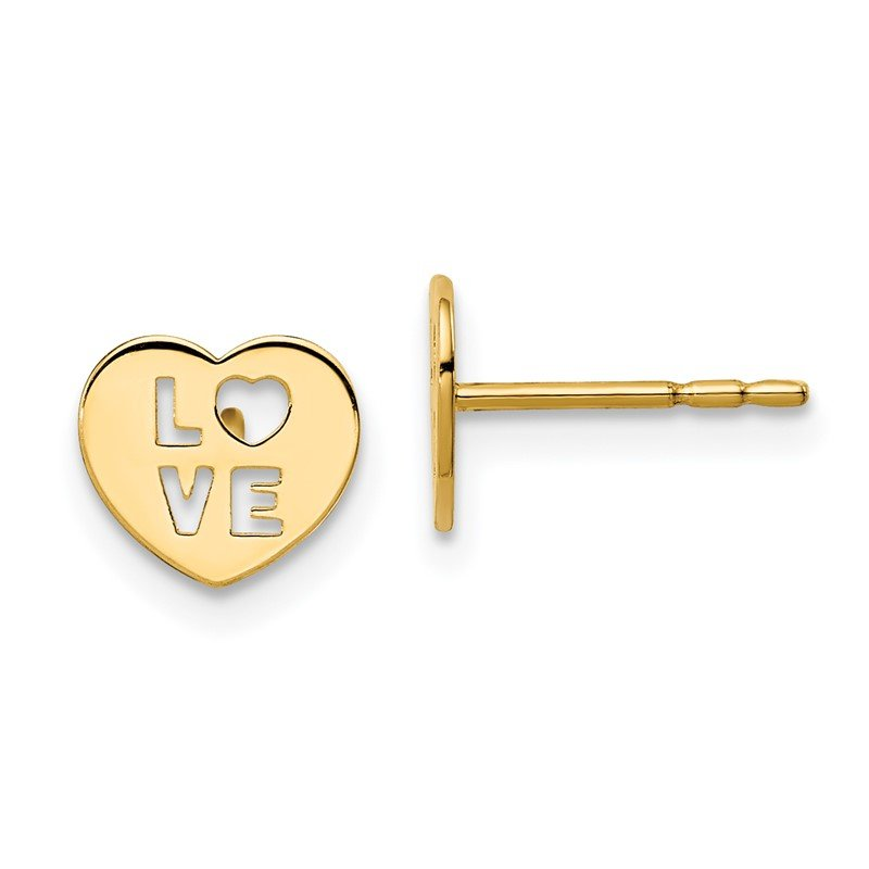 Quality Gold 14k Madi K Love Heart Post Earrings