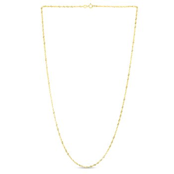 14K Gold 1.5mm Singapore Chain