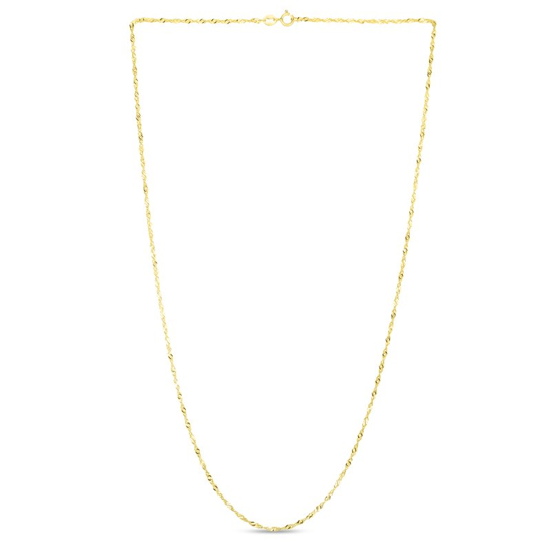 Royal Chain 14K Gold 1.5mm Singapore Chain
