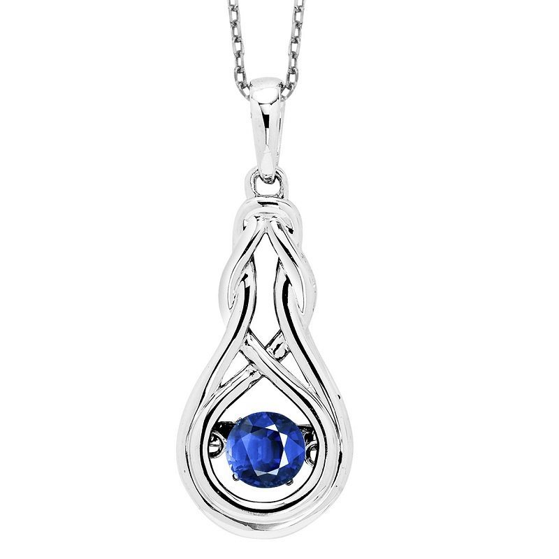 Rhythm of Love Silver Created Sapphire Rhythm Of Love Pendant