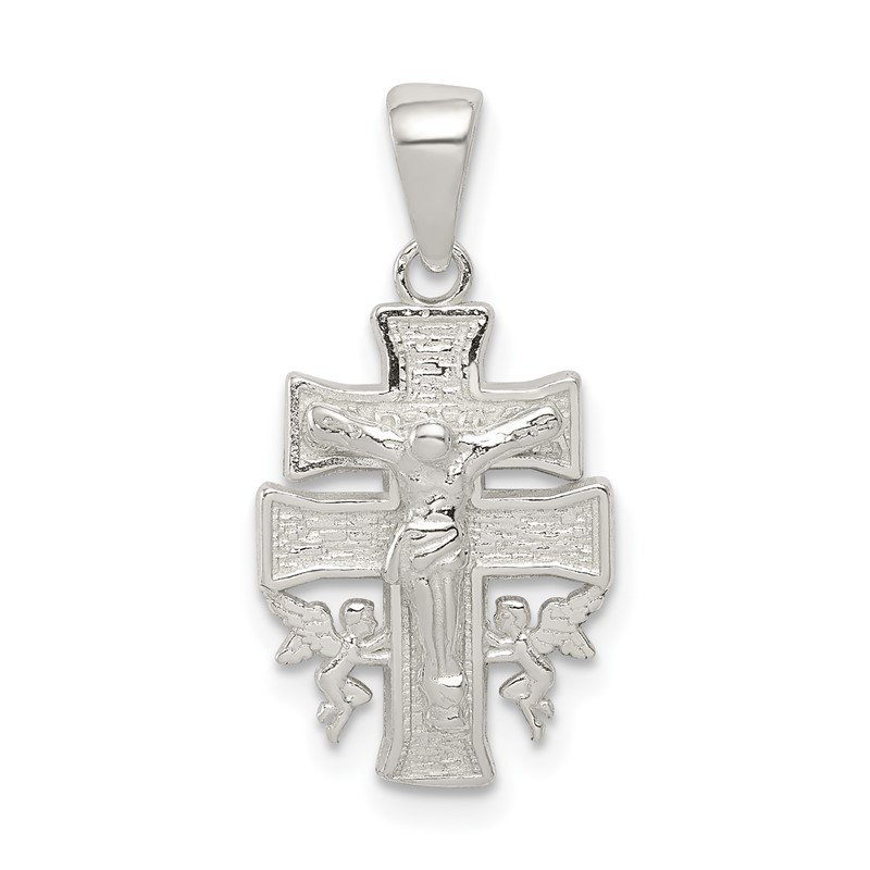 Sterling Silver Polished Mini INRI Crucifix Pendant