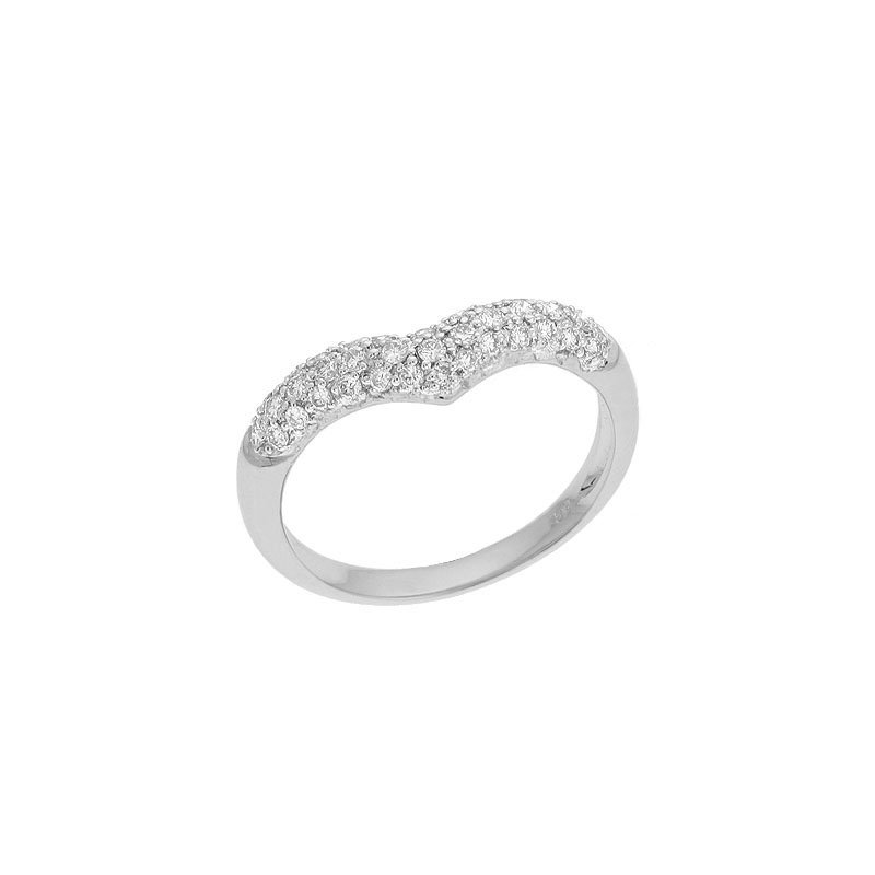 S. Kashi  & Sons White Gold Diamond Pave Ring