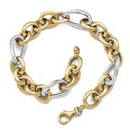 Leslie's Leslie's 14k Two-tone Polished Fancy Link Necklace