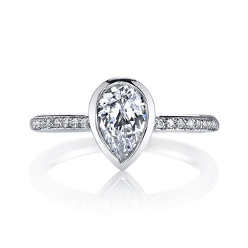 MARS 26704D Diamond Engagement Ring 0.12 Ctw.