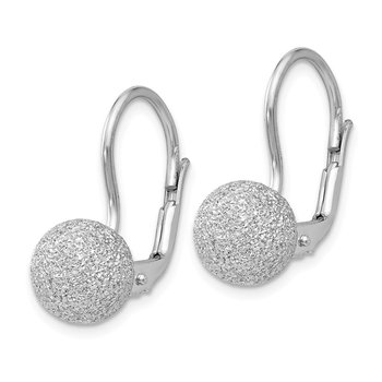 Leslie's SS Radiant Essence Rhodium-plated Leverback Earrings