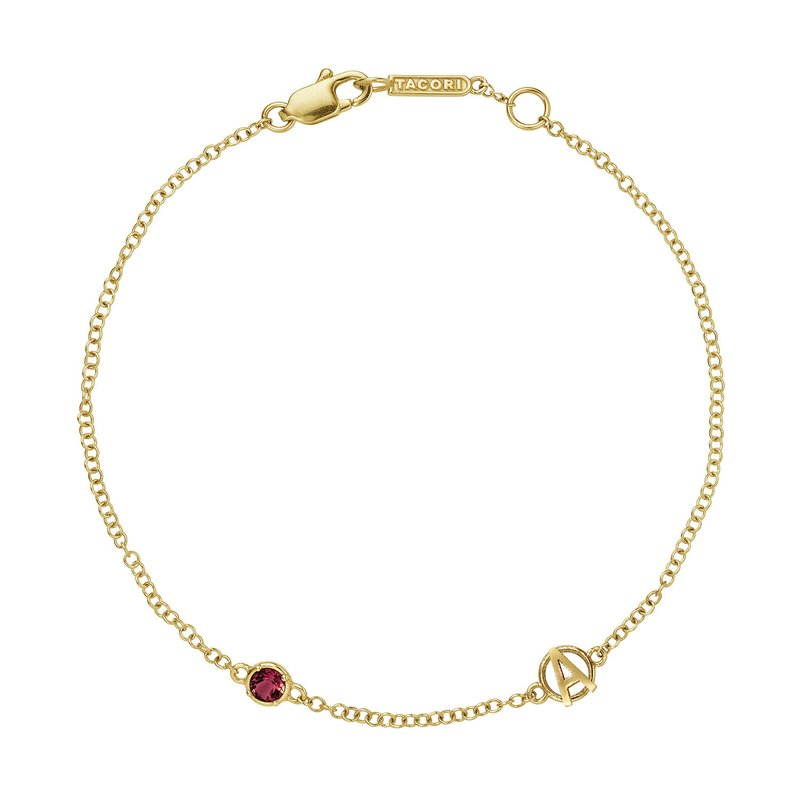 Tacori Fashion The Gemstone & Monogram Bracelet w/ Garnet