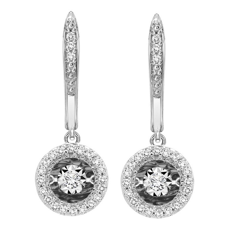 Necker's Signature Collection 14K Diamond Rhythm Of Love Earrings 1/5 ctw
