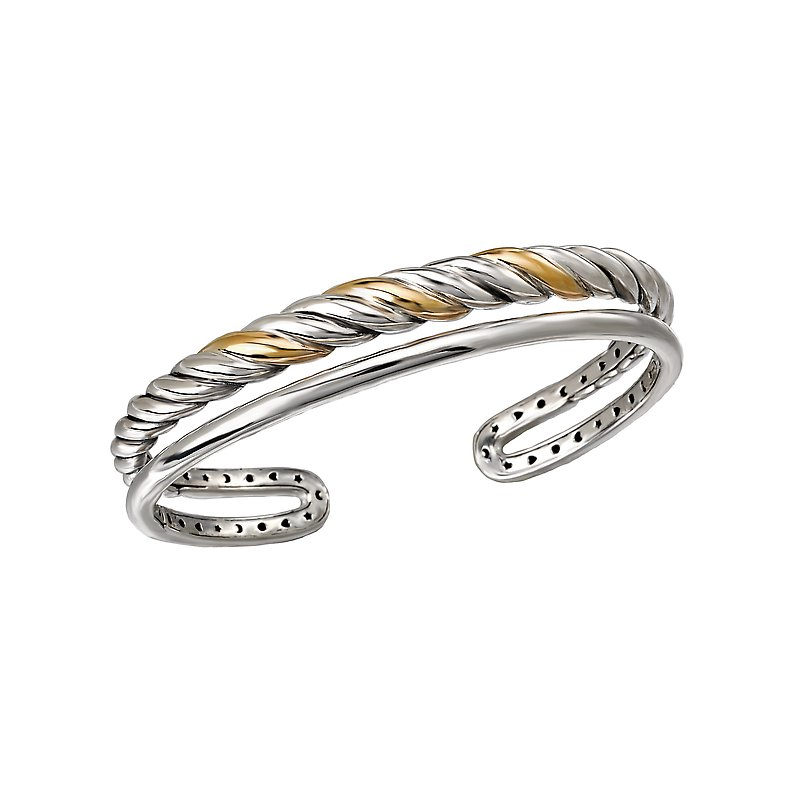 Eleganza Ladies Fashion Two-Tone Bangle