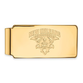 Gold University of New Orleans NCAA Money Clip
