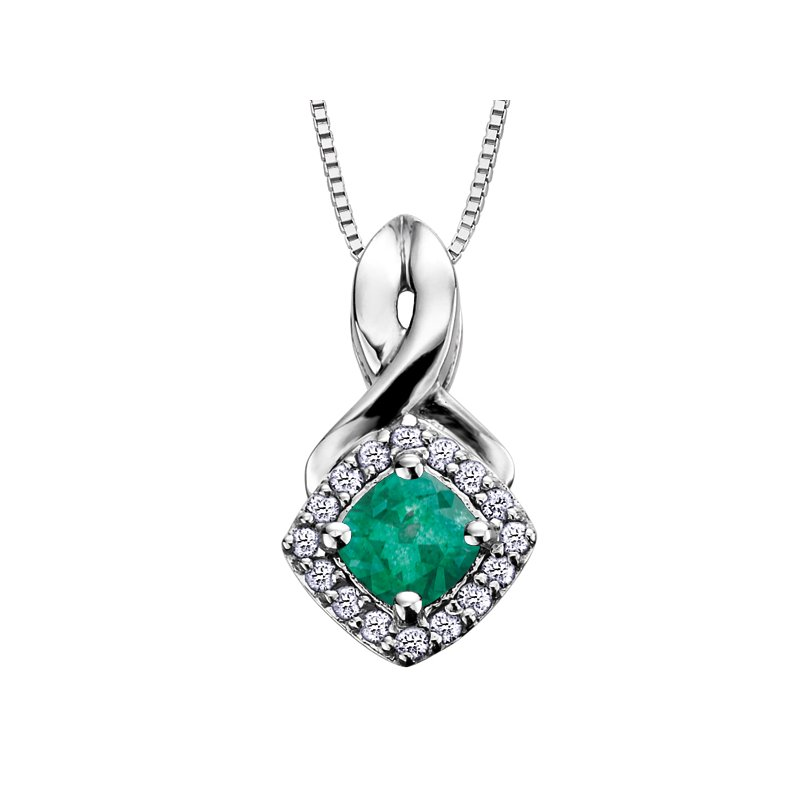 VanValkenburg Collection Birthstone & Diamond Pendant