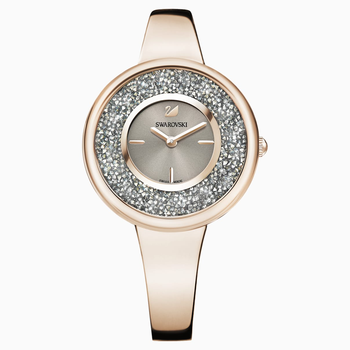Crystalline Pure Watch, Metal bracelet, Champagne-gold tone PVD