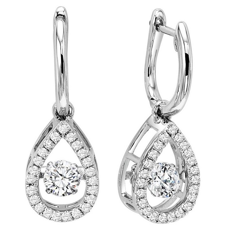 Rhythm Of Love 14k Diamond Earrings 3 4 Ctw