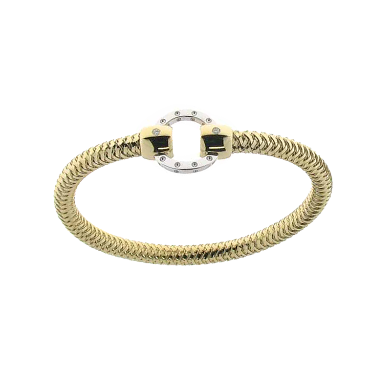 Roberto Coin  #25974 Of 18Kt Gold Bangle With Circle Stations