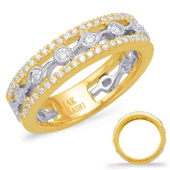 Yellow & White Diamond Fashion Ring