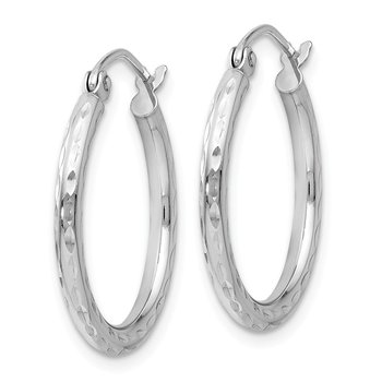 Leslie's 14K White Gold Hinged Hoop Earrings