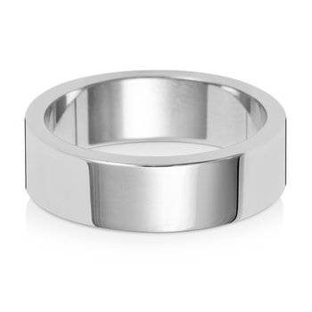 9Ct White Gold 6mm Flat Flat Wedding Ring