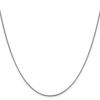 Leslie's 14K White Gold 1.1 mm Sparkle Round Box Chain