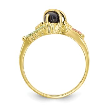 10k Tri-color Black Hills Gold Onyx Ring