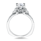 Valina Mounting with side stones .26 ct. tw., 1 ct. Princess cut center.