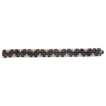 18KT GOLD BLACK SAPPHIRE AND WHITE DIAMOND BRACELET