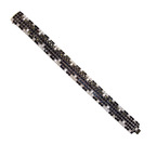 Roberto Coin 18Kt Gold Black Sapphire And White Diamond Bracelet
