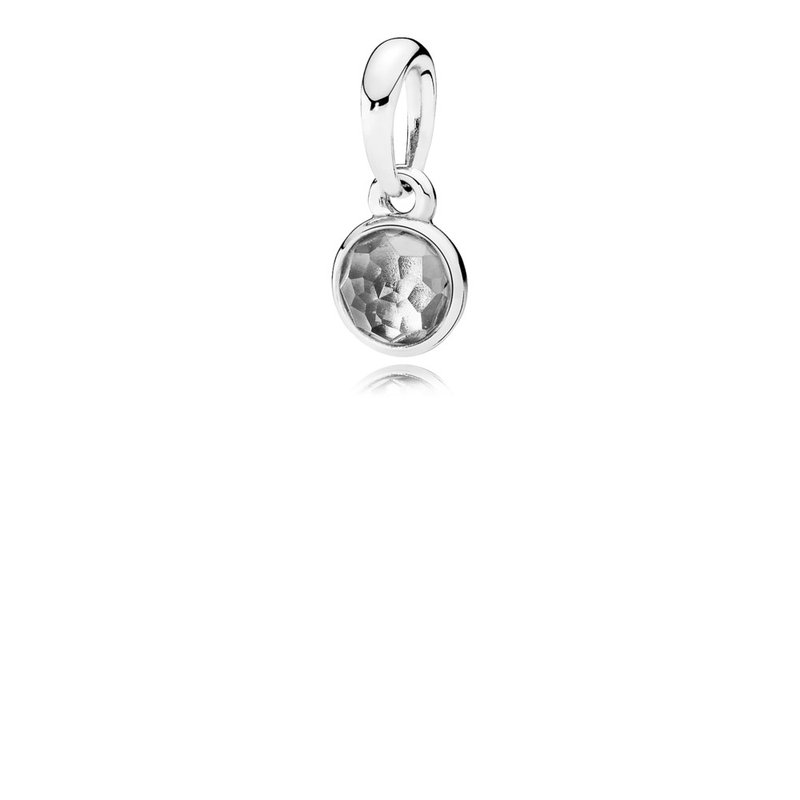 3c2f85e06 David Arlen Jewelers: PANDORA April Droplet Pendant, Rock Crystal