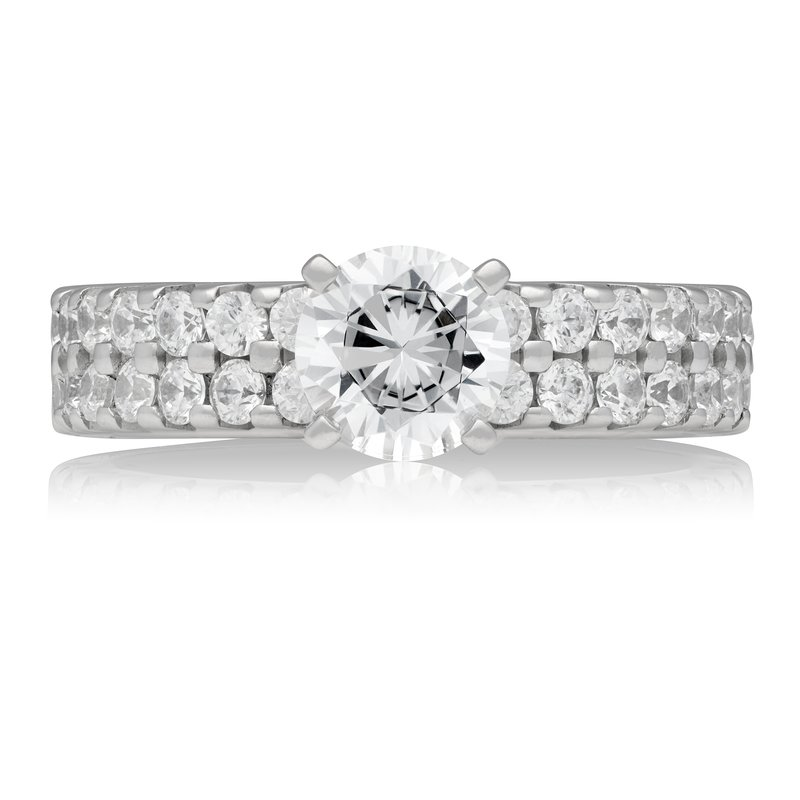 Veer Diamonds TWO ROW SOLITAIRE RING