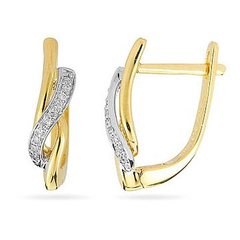 10K YW Diamond Fashion Earring