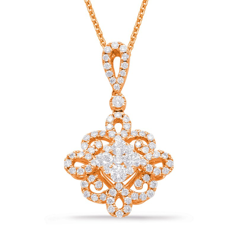 Briana Rose Gold Diamond Pendant