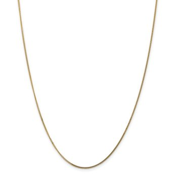 14k 1.3mm Curb Pendant Chain