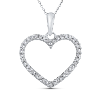 1/5 Ct Diamond Heart Pendant with Chain