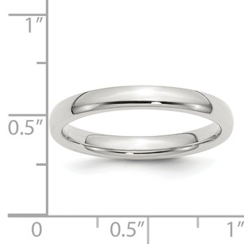 Sterling Silver 3mm Comfort Fit Band
