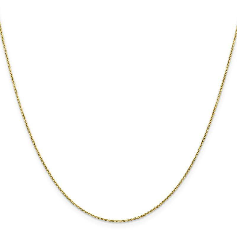 Quality Gold 10k .9mm D/C Cable Chain