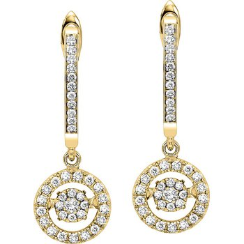 10K Diamond Rhythm Of Love Earrings 1/2 ctw