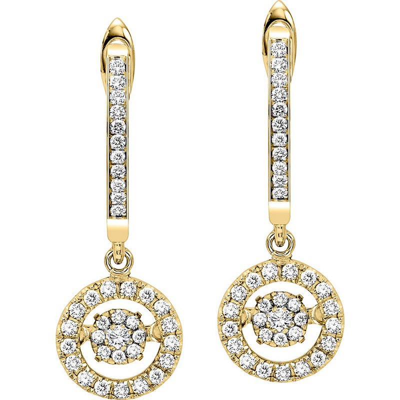 Rhythm of Love 10K Diamond Rhythm Of Love Earrings 1/2 ctw