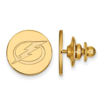 Gold-Plated Sterling Silver Tampa Bay Lightning NHL Lapel Pin