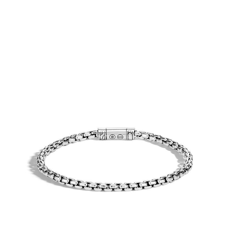 JOHN HARDY Classic Chain 4MM Box Chain Bracelet in Silver