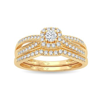 14K 0.33Ct Diamond  Bridal Ring