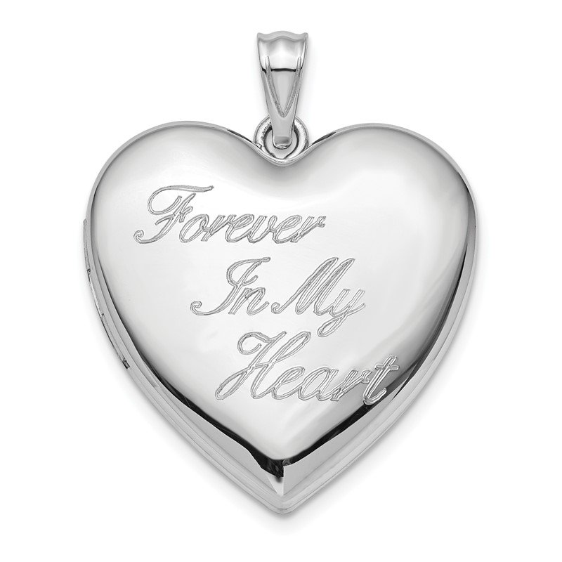 Arizona Diamond Center Collection Sterling Silver Rhod-plated Forever in My Heart Ash Holder Heart Locket