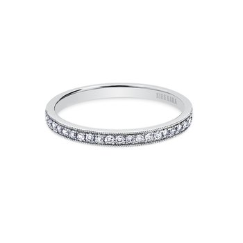 Milgrain Stackable Diamond Wedding Band
