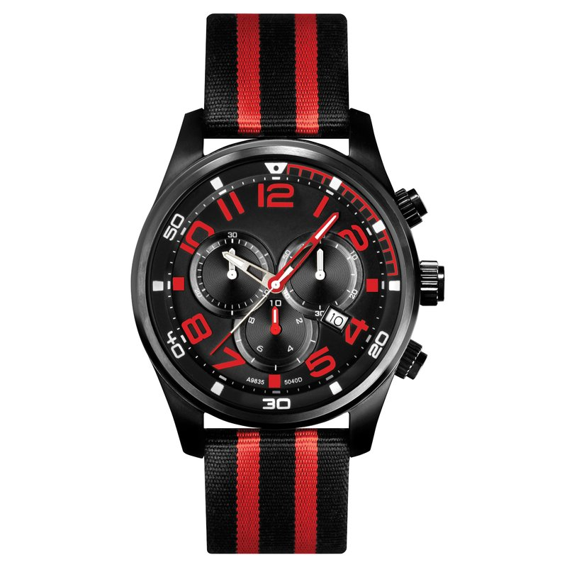 Belair Time Corp. a9835bk-red