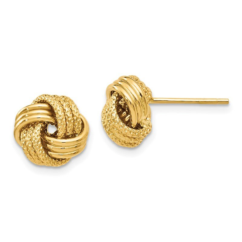 Leslie's Leslie's 14K Polished Textured Love Knot Earrings
