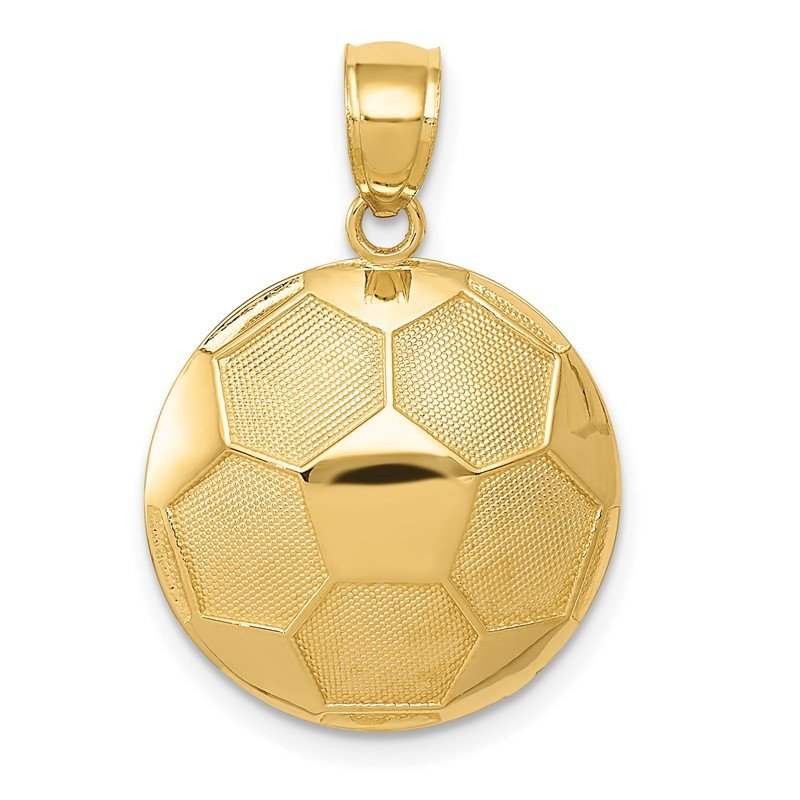 Quality Gold 14k Soccer Ball Pendant