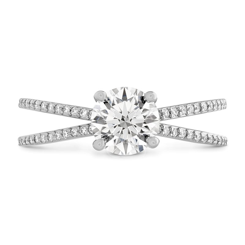 Hearts on Fire Camilla Split Shank Engagement Ring