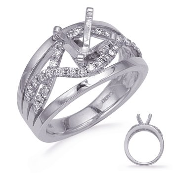 White Gold Diamond Engagemond Ring