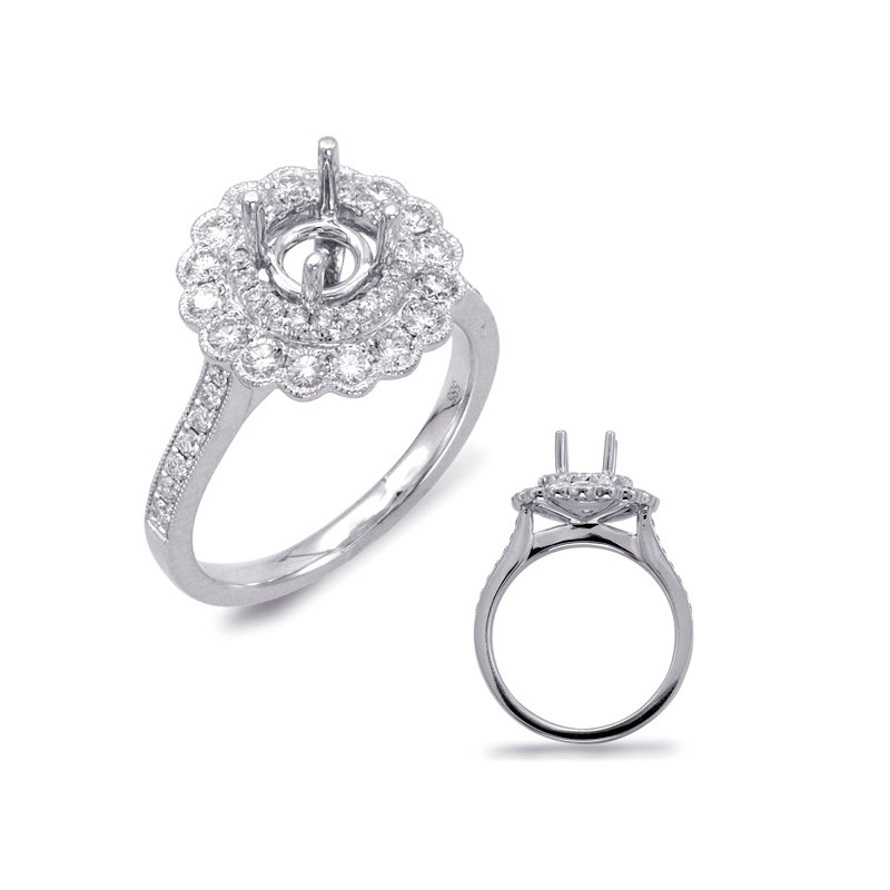 S. Kashi & Sons Bridal Platinum Engagement Ring