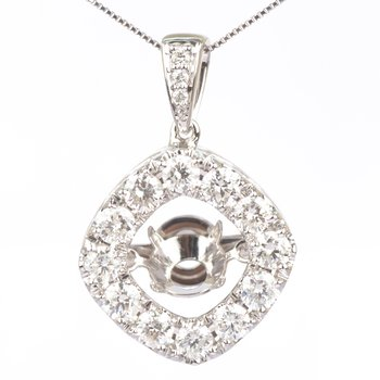 14K Diamond Rhythm Of Love Pendant 2 ctw
