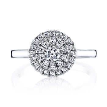 MARS 26126 Diamond Engagement Ring, 0.59 Ctw.