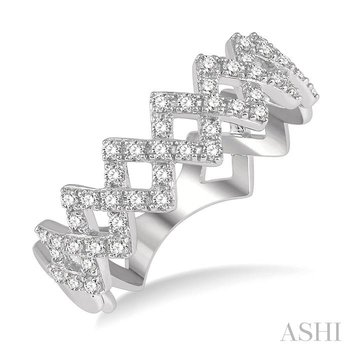 diamond zigzag ring