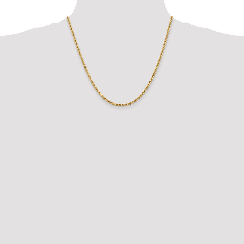 Leslie's Leslie's 14K 2.75mm Diamond-Cut Rope Chain